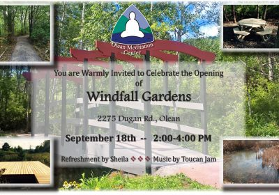 Invitation to OMC Windfall Gardens Opening